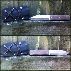 Handmade Tactical Sgain dubh Style Knife with Sheath on Etsy, $100.00