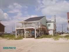 Galveston house rental - View from the Gulf of Mexico