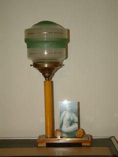 Art Deco Orange Catalin Phenolic Bakelite Lamp Photo Frame