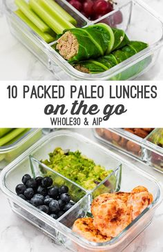 These 10 paleo lunches are perfect for packing on the go! They're perfect to… These 10 paleo lunches are perfect for packing on the go! They're perfect to take to work, school, or just store in your fridge for a quick option. Paleo Menu, Paleo Meal Prep, Paleo Cookbook, Quick Paleo Meals, Quick Snacks, Food Prep, Paleo Dinner Quick, Keto Dinner, Easy Paleo Breakfast