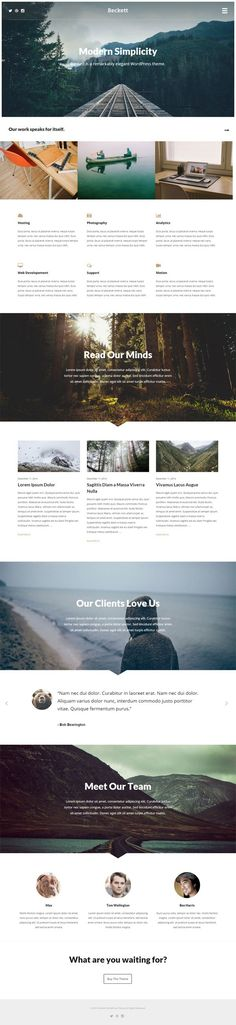 Beckett WordPress Theme is modern simplicity design WordPress theme.