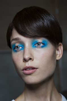 London Fashion Week, FWtrend, Spring Summer 2013, aquatic eyes trend