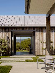 roofing w/ open windows, walk thru space, barn woods