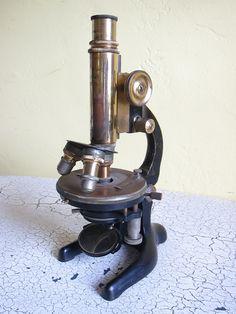 Antique Microscope, Antique Medical Equipment, W & H Seibert Wetzlar Microscope