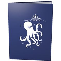 LovePop 3D Pop-Up Greeting Card - Release the Kraken - INPCreative - 3