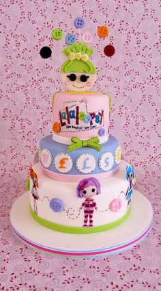 Lalaloopsy By rearly This cake gave me so many problems! First off I made the wrong flavor cake and had to start