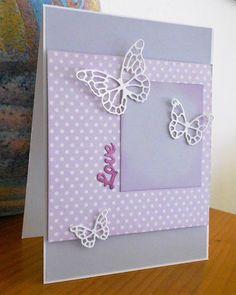 Butterflies and dots card