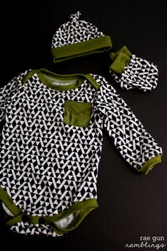 You can have a bit of fun with these DIY patterns for baby clothes. Check out the Faux Pocket Tutorial–this handmade outfit will help keep your little one warm all winter.