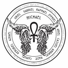 Sigils are symbols created to focus and upon and be charged for a certain purpose. This sigil was created as a focus for communication w. Archangel Gabriel Symbol, Archangel Michael Tattoo, Archangel Raphael, St Michael Tattoo, Magic Symbols, Ancient Symbols, Religious Symbols, Angel Sigils, Kreis Tattoo