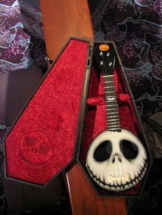 Nightmare Before Christmas ukelele.  I need this & my B-Day is around the corner...Just sayin'