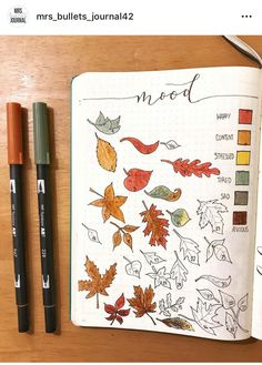 bullet journal octobre The weather is cooling and Halloween is approaching, that means that it is fall! Here is a compilation of over 30 Autumn-inspired bullet journal layouts! Bullet Journal Tracker, Autumn Bullet Journal, December Bullet Journal, Bullet Journal Inspo, Bullet Journal Spread, Bullet Journal Layout, Bullet Journal Leaves, Filofax, Bullet Journal Calendrier