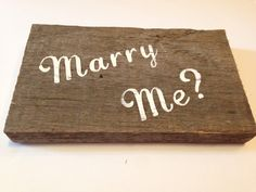 Words on Wood: Marry Me? by NorthernPalletDesign on Etsy