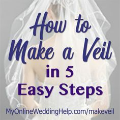 Videos and step-by-step instructions on how to make your own wedding veil. Step 1: measure and cut tulle or other veil fabric. Step 2: Make the blusher (optional) Step 3: Glue crystals, trim, or other decoration. Step 4: Create gathers at the crown / comb. Step 5: Sew on a veil comb.