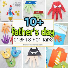 10 easy and cute Fathers Day crafts for kids including handprint and footprint ideas. So many great Father's Day ideas that kids can make! Kids Fathers Day Crafts, Fathers Day Shirts, Crafts For Kids, Children Crafts, Daycare Crafts, Children Activities, Daycare Ideas, Diy Father's Day Crafts, Father's Day Diy