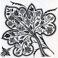 English embroidery 17th century by Design Decoration Craft, via Flickr