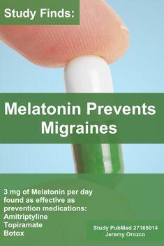 Natural Headache Remedies Melatonin Prevents Migraines - 10 Homemade Migraine Remedies, Tips and Infographics Migraine Pain, Chronic Migraines, Migraine Relief, Fibromyalgia, Migraine Remedy, Migraine Diet, Menstrual Migraines, Chronic Pain, Migraine