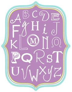 Alphabet Printable's {free download} | A Sorta Fairytale
