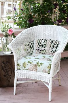 make replacement cushions for wicker chairs old house love affair
