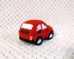 Crochet car - fiat 126p  Szydełkowe autko - maluch  #amigurumi #crochet #handmade