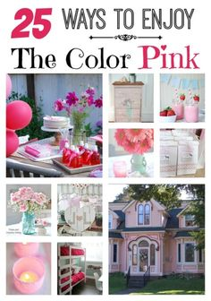 Valentine's Day is just around the corner and I thought it would be fun to share 25 ways to enjoy the color pink! See how you can use pink in your home.