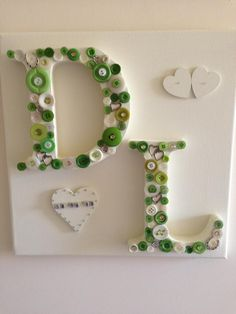 lime green wedding plaque