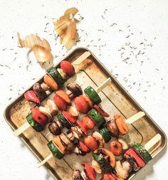 Vegetables Skewers | Brochettes de légumes au barbecue - PROJET PASTEL