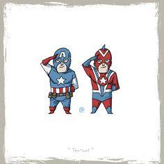 LITTLE FRIENDS - Captain America & Commander Steel