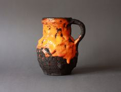 Fat Lava West German Pottery Roth Handled Vase by GoGoBerlinette, €45.00