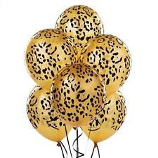 NEW Leopard Spots Latex Balloons Party Accessory 6 Toy Decor Kids Party Animal