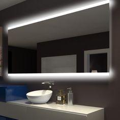 Orren Ellis Keshwar Rectangle Backlit Vanity Mirror