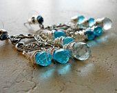 Tiffany blue and black damask wedding