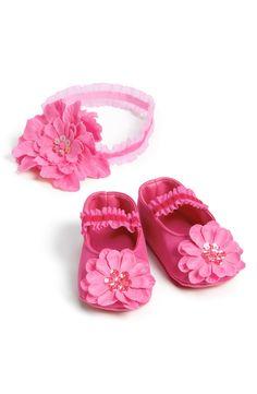 PLH Bows & Laces Headband & Crib Shoes