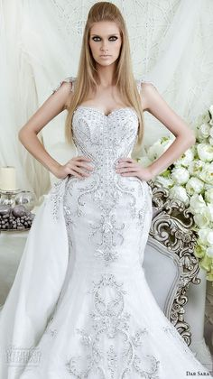 """tullediaries: """" """" Dar Sara 2016 Wedding Dresses Featuring voluminous ball gowns and sleek mermaids dripping with exquisite Swarovski crystal elements, the 2016 Dar Sara collection presents unabashedly romantic designs with a fairy tale like grandeur...."""