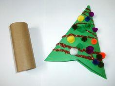 Cardboard Tube Christmas Tree Ornaments