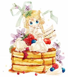 The colors look so lively and cheerful~! Pancake time~ <3