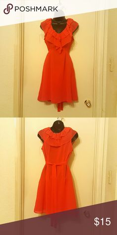 Red Dress Francesca's Collection ~ Small Cute Red Francesca's Collection Dress   Size: S  Flawless... Great condition. Francesca's Collections Dresses Midi