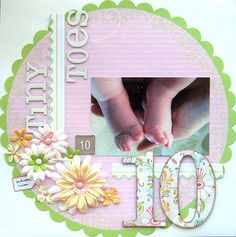 10 Tiny Toes...Baby Layout