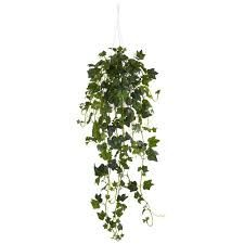 Nearly Natural Green Artificial Ivy Plants at Lowe's. The large leaves of this artificial hanging English ivy adds to the height of its draped greenery. Perfect for a small apartment or office that is lacking Fake Plants Decor, Ivy Plants, Foliage Plants, Faux Plants, Plant Decor, Potted Plants, Garden Plants, Garden Shrubs, Plant Wall