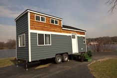 A modern 250 square feet tiny house on wheels in South Elgin, Illinois. Built by Titan Tiny Homes. Tiny House Big Living, Tiny House Swoon, Modern Tiny House, Tiny House Design, Tiny House On Wheels, Small Living, Living Area, Living Spaces, Living Room