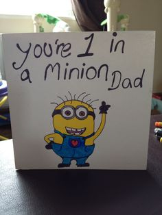 Minion Father's Day handmade card craft. Adorable. (Image only)