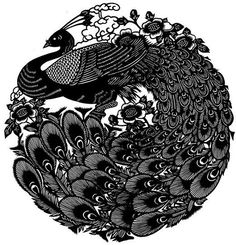 Chinese folk art: paper cut (peacock) by johnboytx3, via Flickr