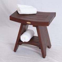 TEak shower stool for bathroom