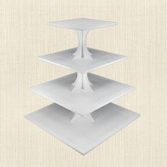 4 Tiered Wedding - Cupcake Stand Traditional Center Tower - Birthday Dessert Tree Square on Etsy, $23.45