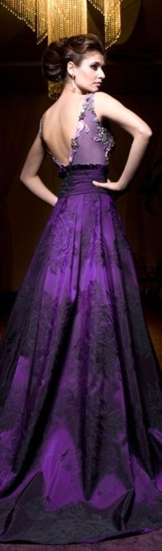 purple gown #promdress