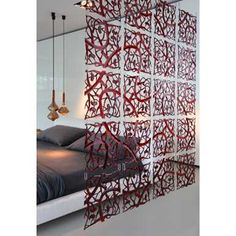 PI:P Partition by Koziol cerise sur la deco, made in design. Wood Room Divider, Sliding Room Dividers, Small Appartment, Rideaux Design, Interior And Exterior, Interior Design, Guest Room Office, Temporary Wall, Types Of Rooms