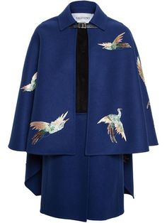 Valentino Double Felt Cape Coat - Browns - Farfetch.com