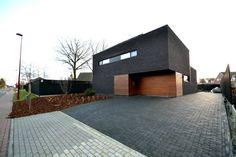 moderne woning zwarte gevelsteen - Google zoeken