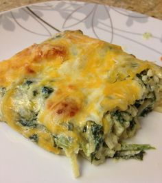 Spinach Spaghetti Casserole | HungryLittleGirl. Making it using Spaghetti Squash instead!