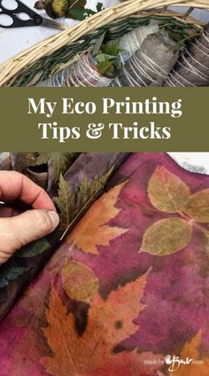 My Eco Printing Tips & Tricks - Made By Barb - what I have learned Eco printing has so many questions since it is such an interesting art form. I'll share my Eco Printing Tips & tricks with you from my many experimentations Fabric Painting, Fabric Art, Painting Tips, Natural Dye Fabric, Natural Dyeing, Fabric Dyeing Techniques, Tie Dye Crafts, How To Dye Fabric, Dyeing Fabric