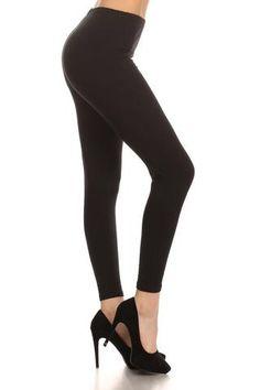 Black Cotton Leggings $14